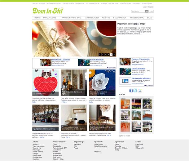 Spletne_strani_Dom in stil
