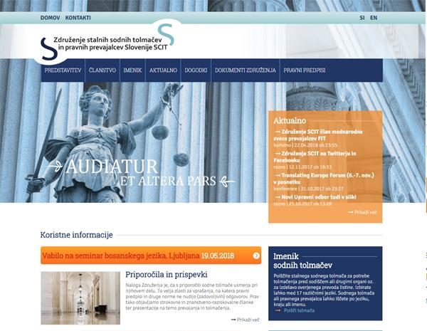 Spletna stran Združenja stalnih sodnih tolmačev